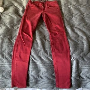 Joes Red Skinny Jeans size 25